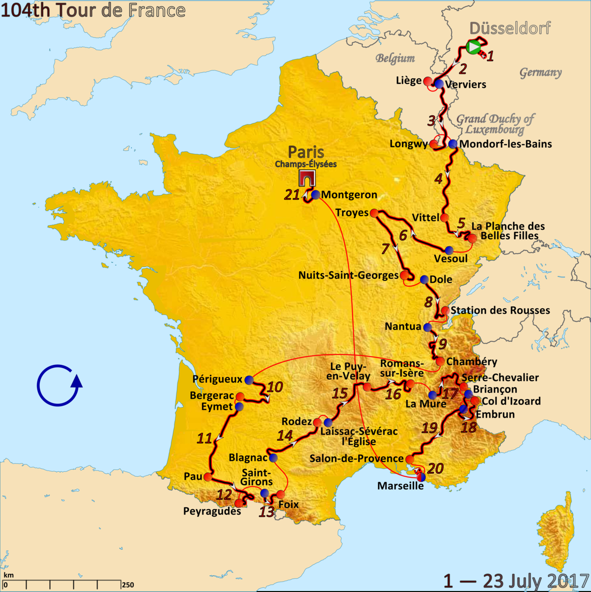 2017 Tour De France - Wikipedia avec Region De France 2017