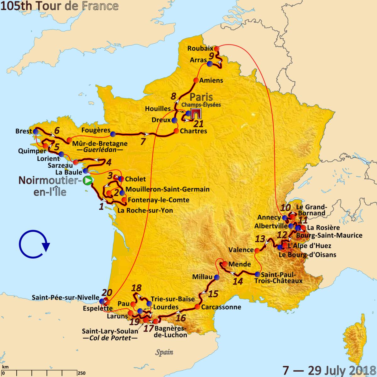 2018 Tour De France - Wikipedia encequiconcerne Region De France 2018
