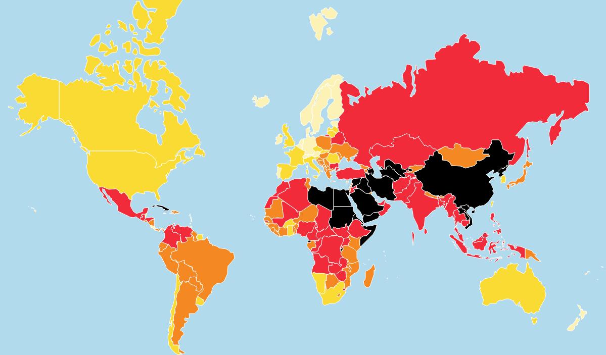 2019 World Press Freedom Index | Rsf dedans Carte Europe 2017