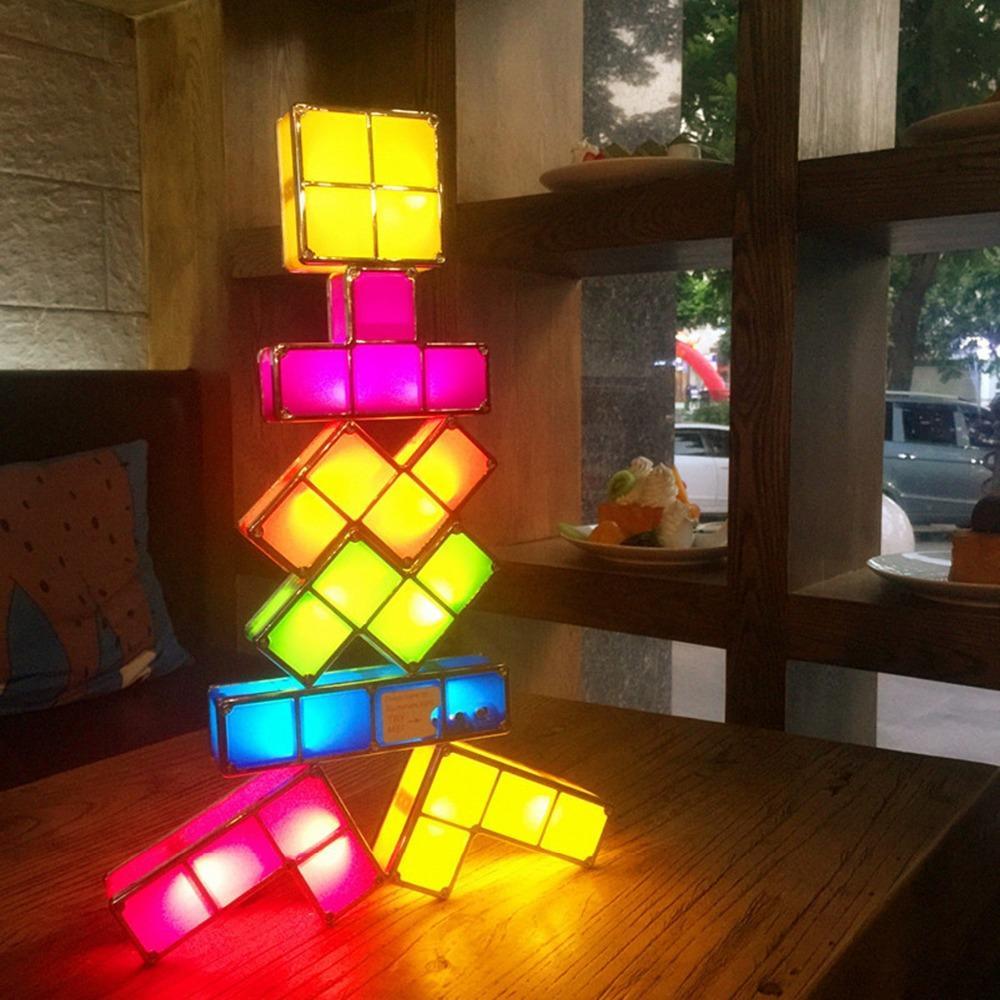 2020 2019 Upgrade Diy Tetris Night Light Colorful Stackable Tangram Puzzles  Led Induction Interlocking Lamp 3D Toys From Supaonline, $20.3 | avec Tangram En Ligne