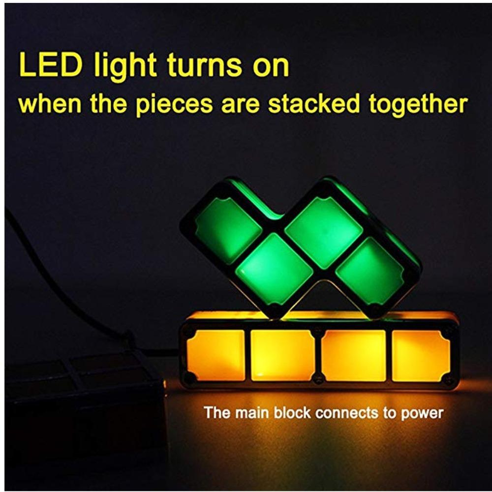 2020 2019 Upgrade Diy Tetris Night Light Colorful Stackable Tangram Puzzles  Led Induction Interlocking Lamp 3D Toys From Supaonline, $20.3 | serapportantà Tangram En Ligne