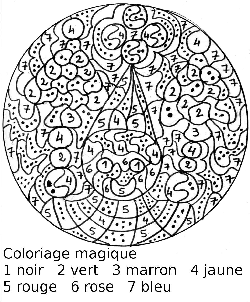 23 Dessins De Coloriage Magique Maternelle À Imprimer avec Coloriage Codé Gs