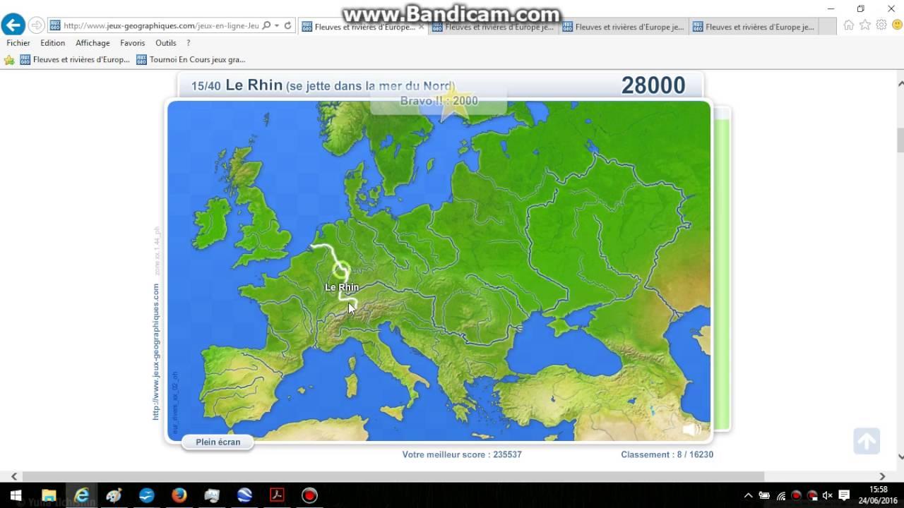 236358 Fleuves D'europe pour Jeux Geographique