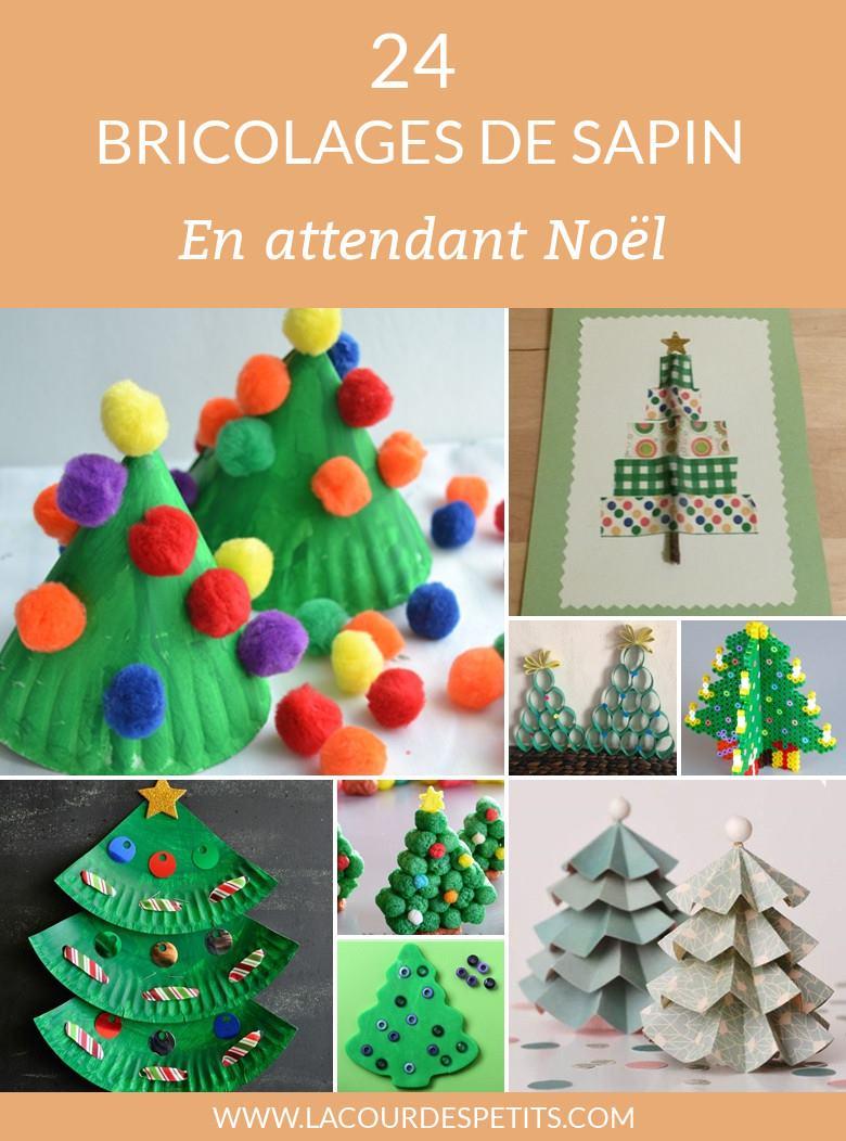 24 Activités Manuelles De Noël Autour Du Sapin |La Cour Des concernant Activité Manuel Pour Enfant