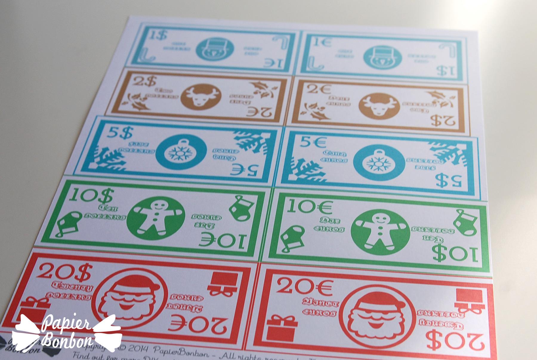 24 Idées Pour Remplir Son Calendrier De L'avent – 24 Ideas avec Billet À Imprimer Pour Jouer