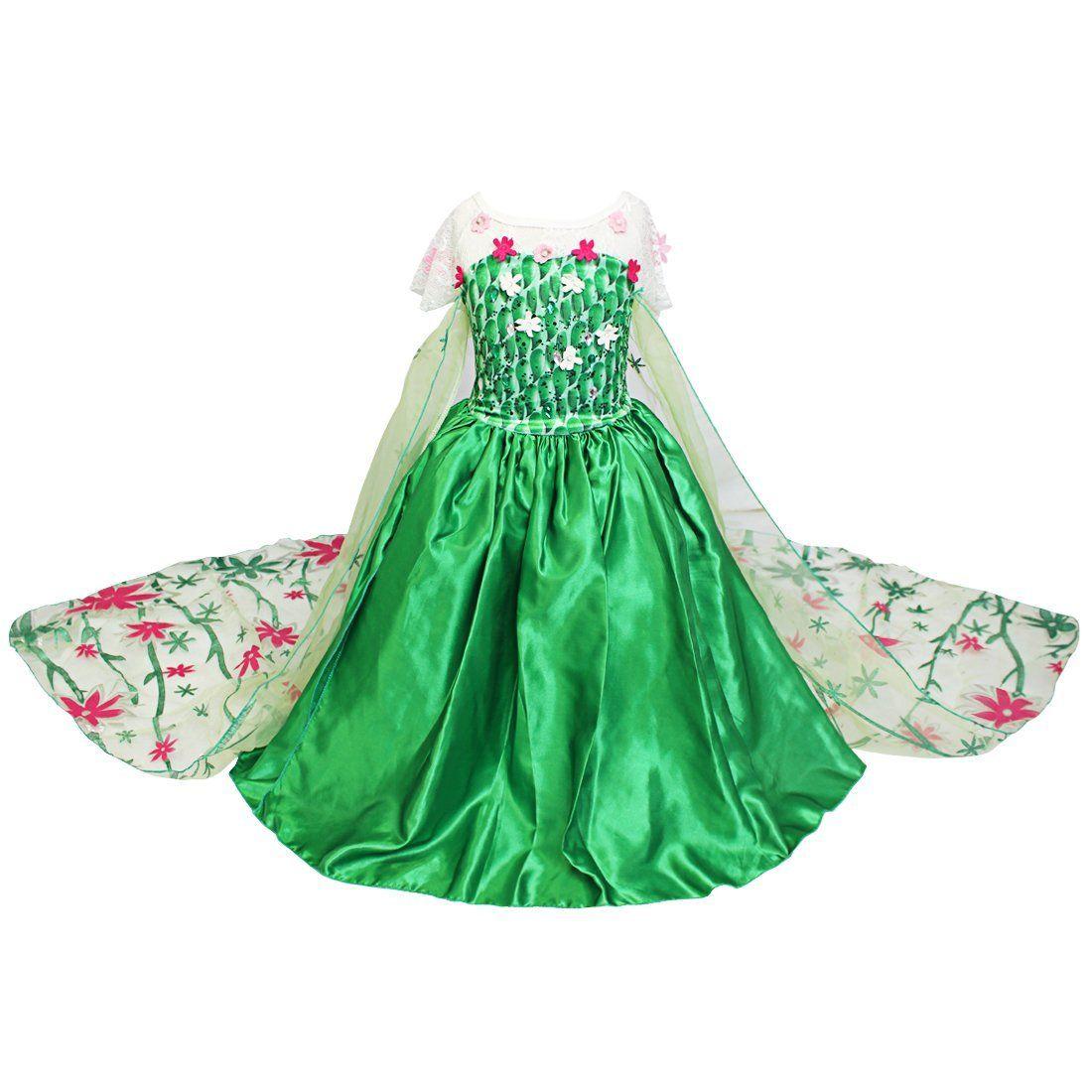25€Iefiel Petites Filles Costume De Reine Des Neiges dedans Jeux De Petite Fille De 6 Ans