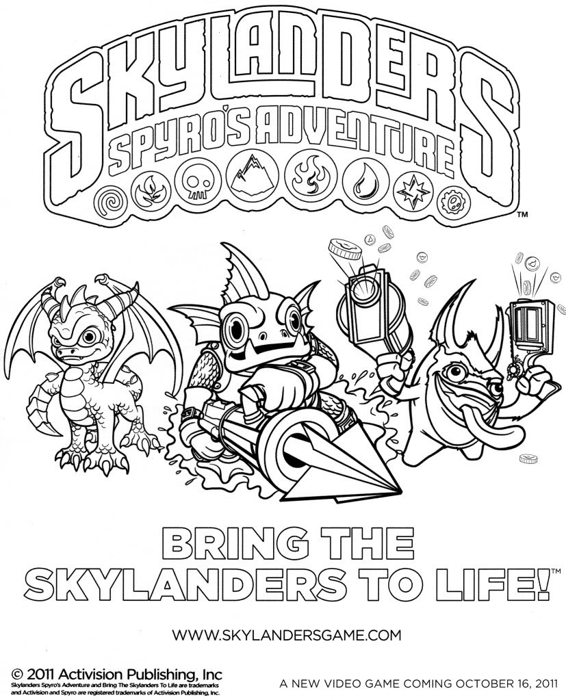 27 Dessins De Coloriage Skylanders À Imprimer intérieur Dessin De Skylanders
