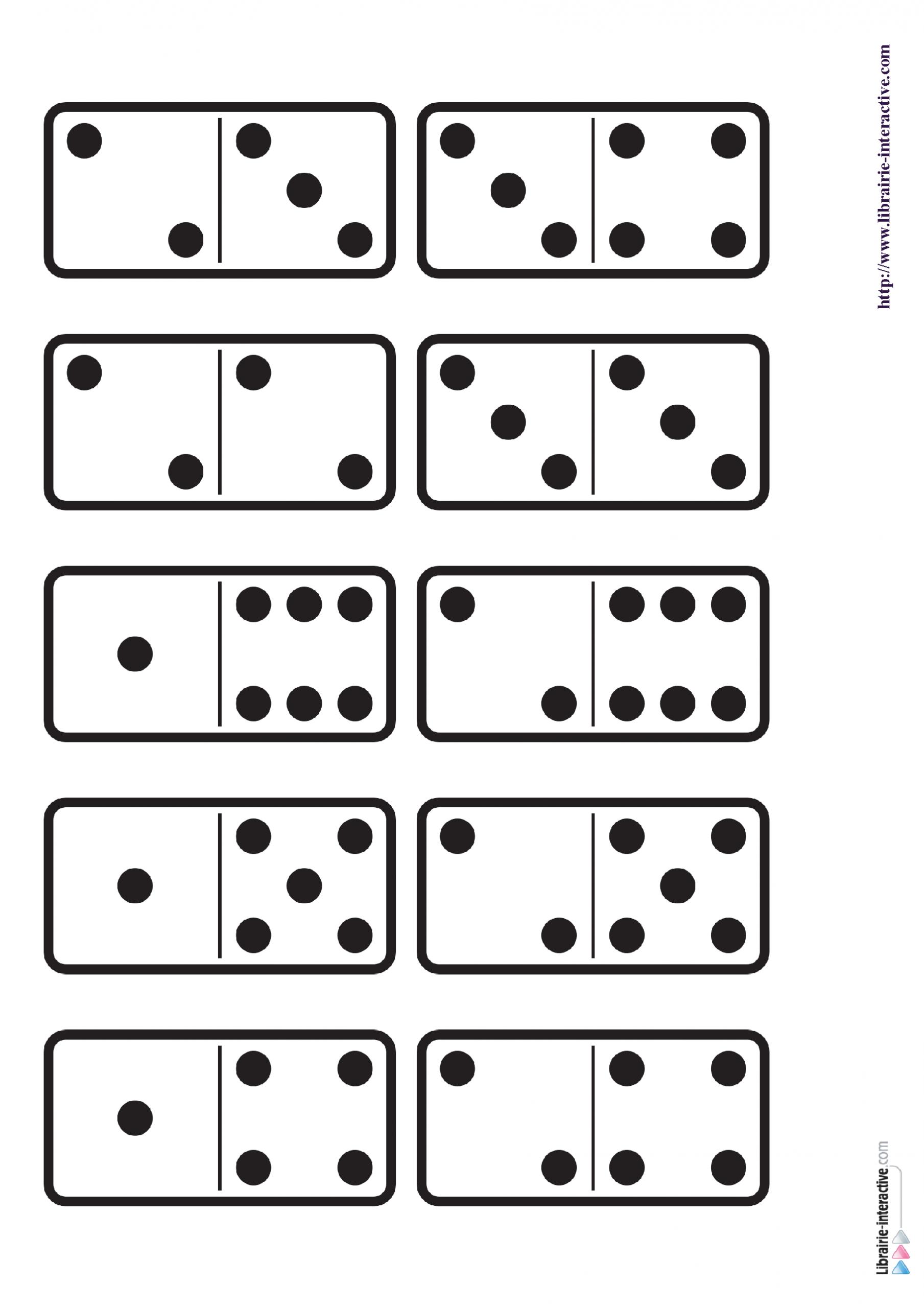 29 Images Des Dominos Des Chiffres De 1 À 6 Ainsi Qu'une intérieur Dominos À Imprimer