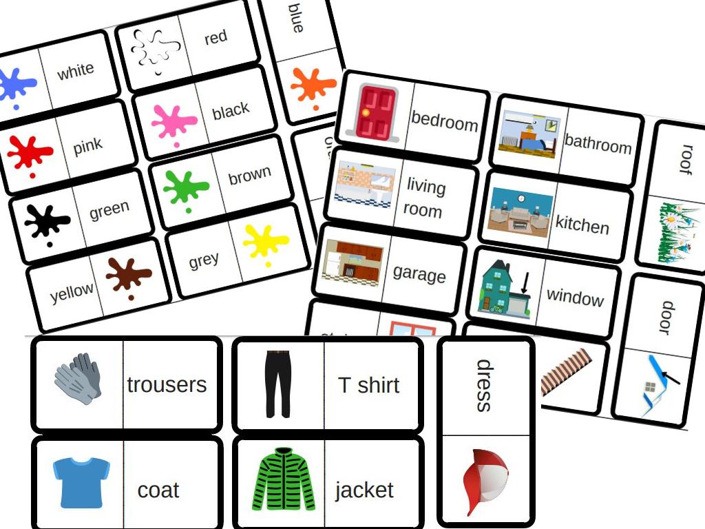 3 Jeux De Dominos Pour Travailler Le Vocabulaire En Anglais concernant Jeu En Anglais À Imprimer
