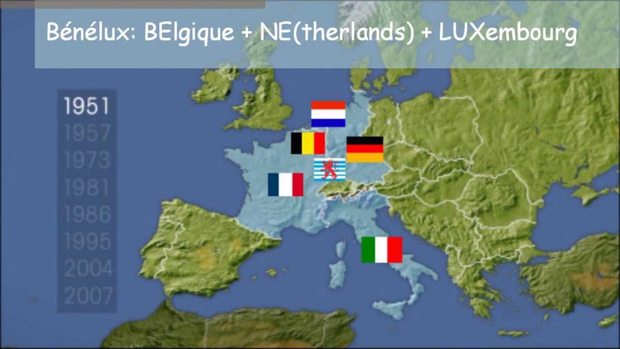 3° - L'ue, Une Union En Construction pour Carte Construction Européenne