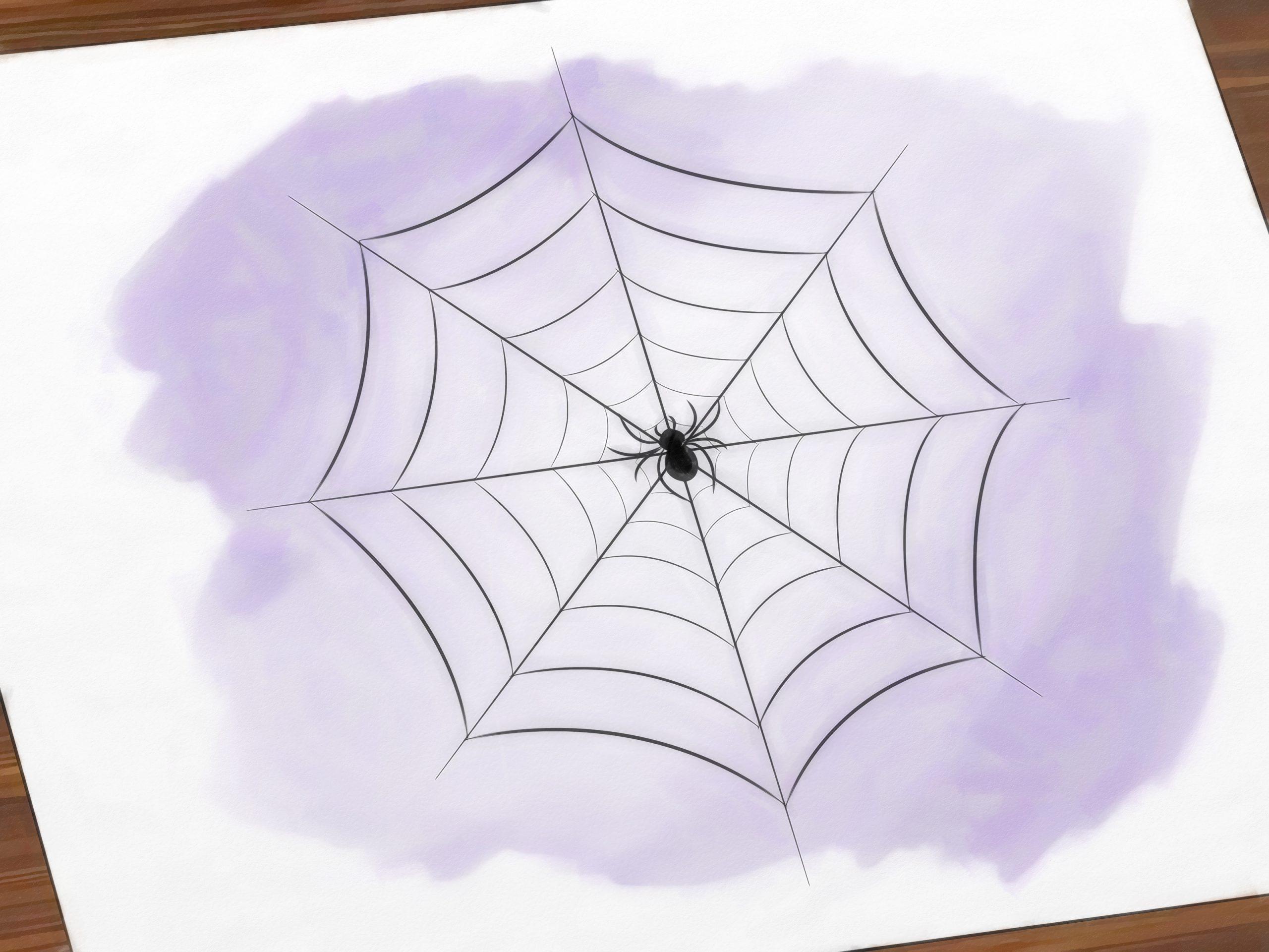 3 Manières De Dessiner Une Toile D'araignée - Wikihow pour Dessin Toile Araignée