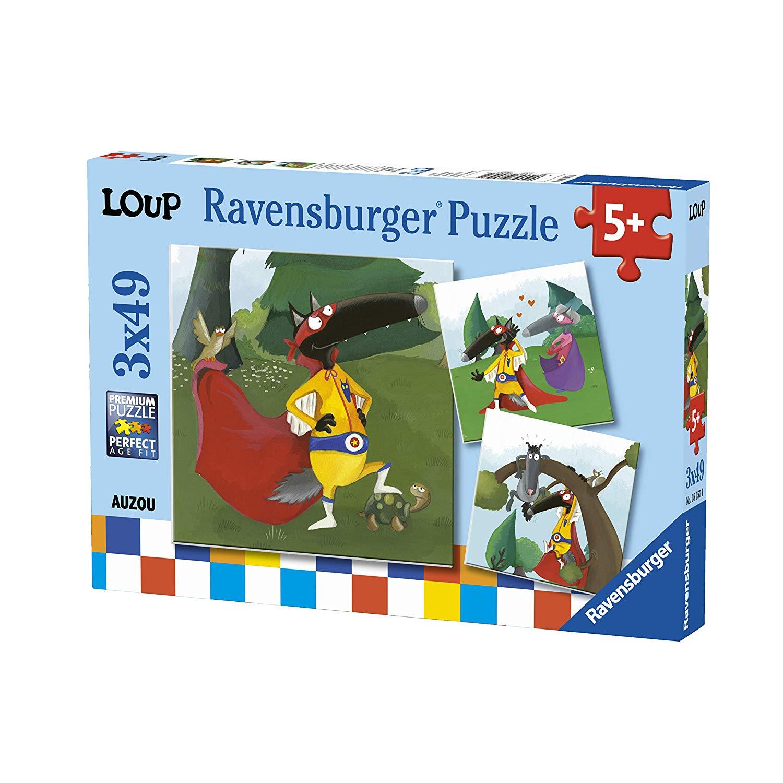 3 Puzzles - Loup - 49, 49 Et 49 Pièces Ravensburger encequiconcerne Puzzle 5 Ans En Ligne