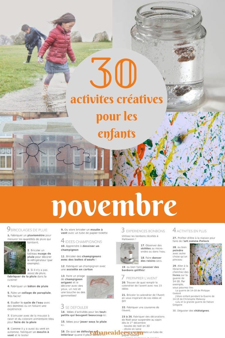 30 Activités Créatives Pour Novembre Pour Les Enfants (Avec pour Billet À Imprimer Pour Jouer