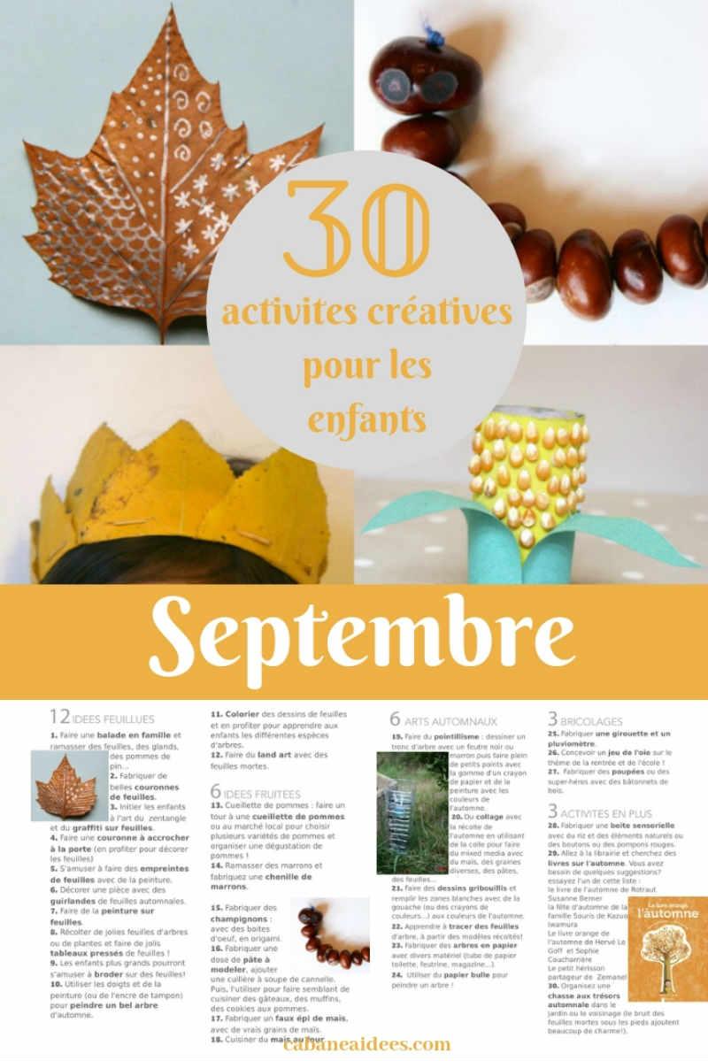 30 Activités Créatives Pour Septembre Pour Les Enfants (Avec serapportantà Activité Primaire A Imprimer