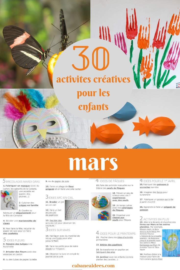 31 Activités Créatives Pour Mars Pour Les Enfants (Avec Une serapportantà Activité 3 Ans Imprimer