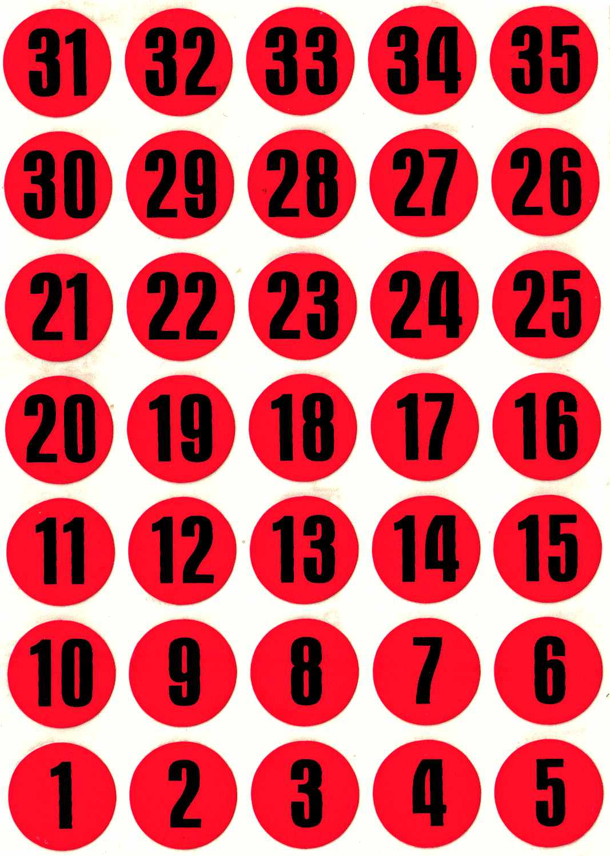 35 Pastilles Chiffres 15Mm Calendrier De L'avent pour Etiquette Chiffre A Imprimer