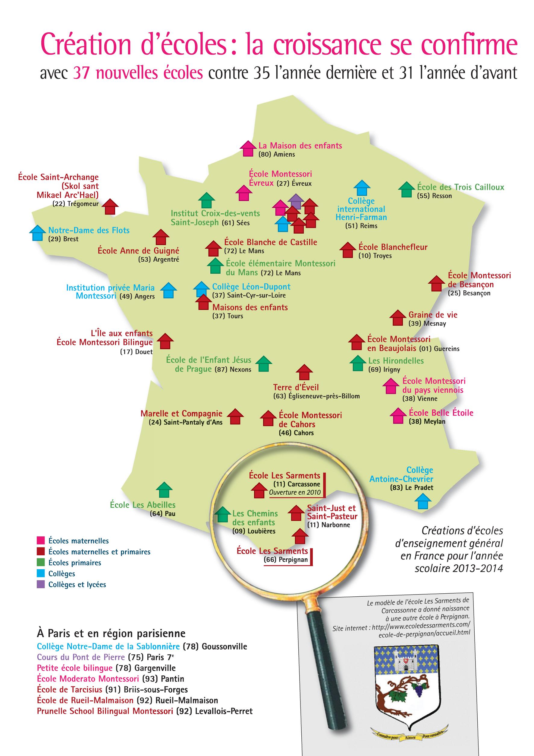 37 Écoles Indépendantes Créées Cette Année ! – Le Blog De La pour Carte De France Pour Les Enfants
