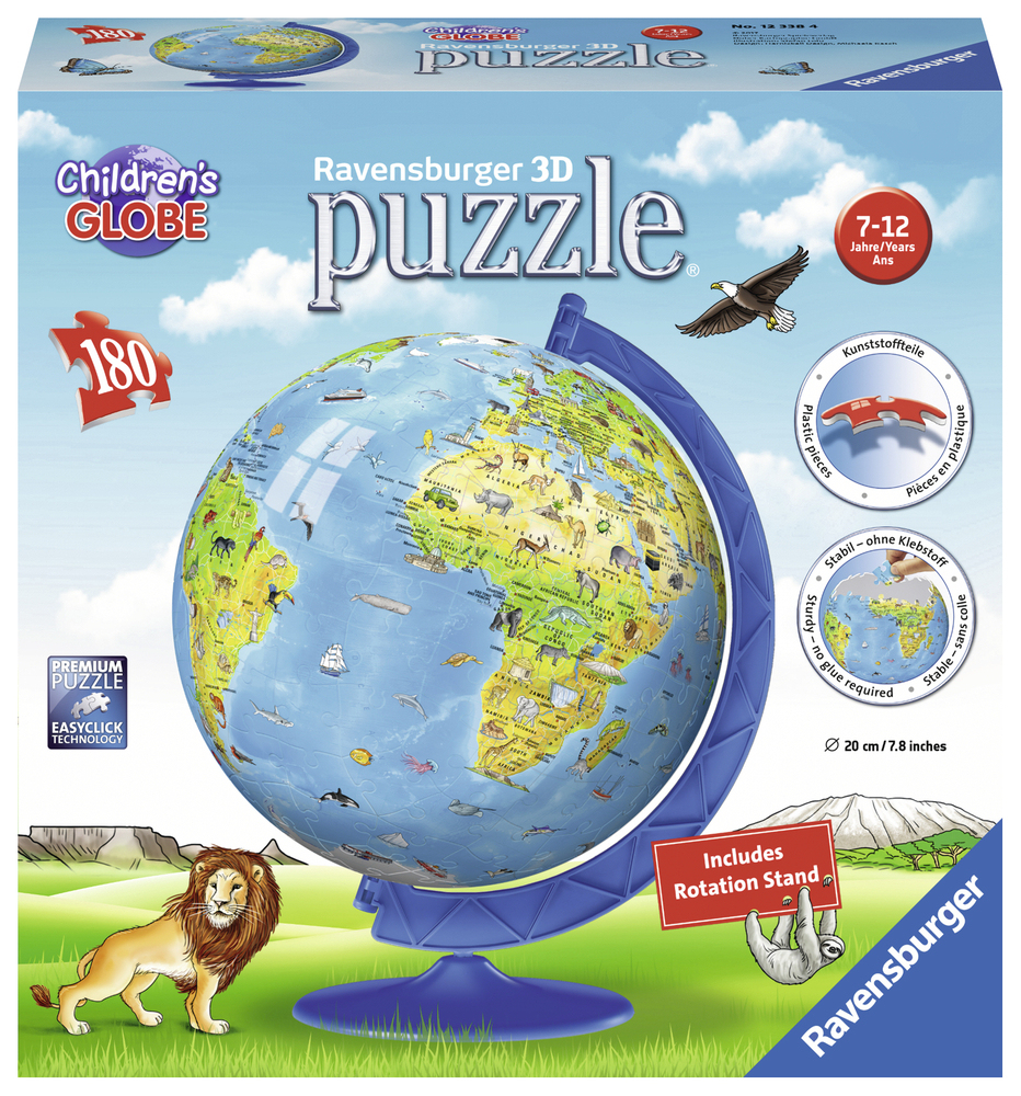 3D Puzzle Globe Enfants Anglais, 180 Pièces | Acheter En destiné Puzzle Enfant En Ligne