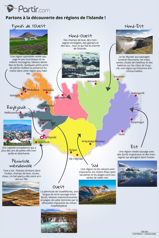 4 Cartes Touristiques D'islande Pour Ne Rien Manquer En 2020 destiné Carte France Avec Region