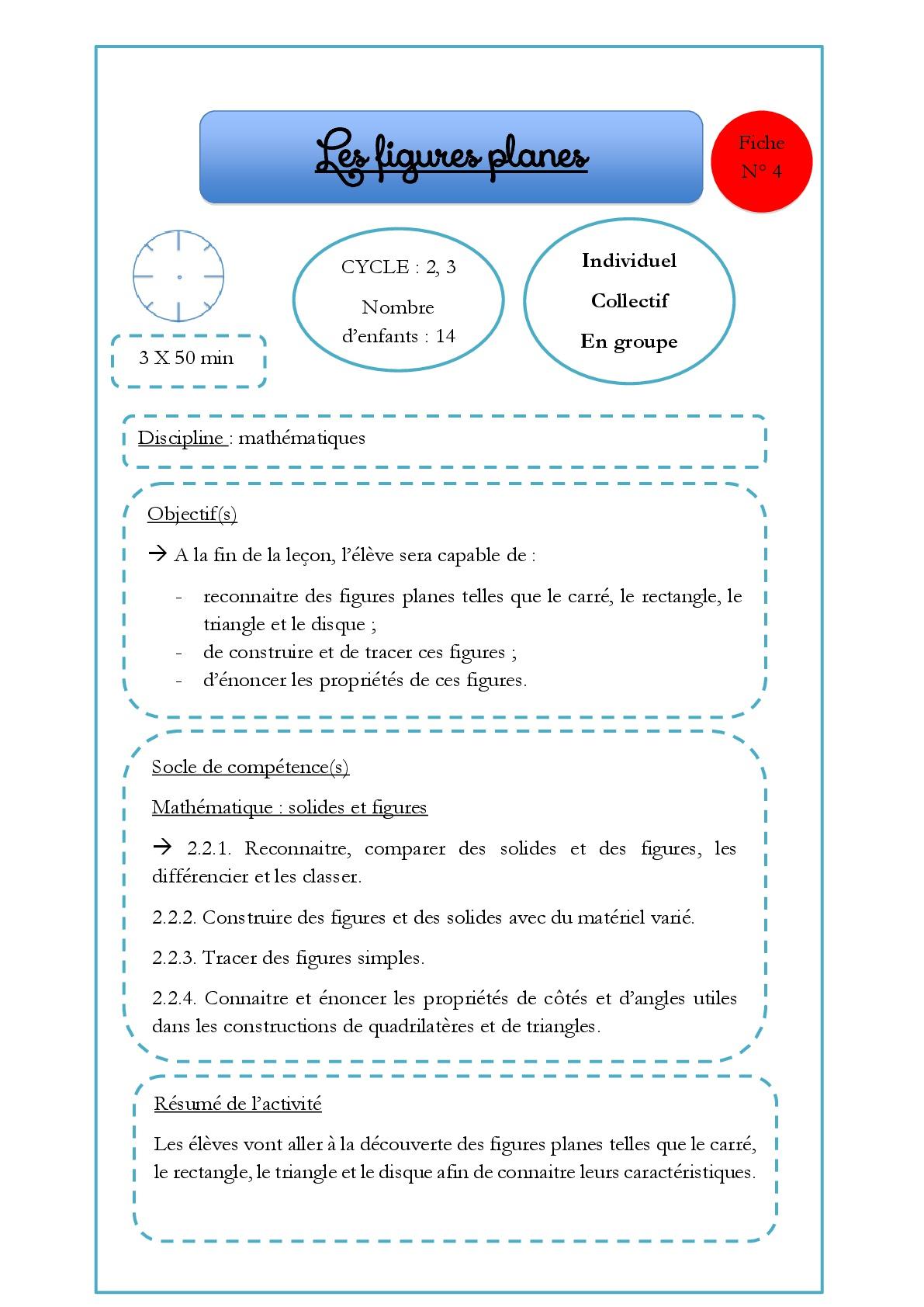 4. Géométrie : Les Formes Géométriques (Figures Planes intérieur Les Formes Geometrique