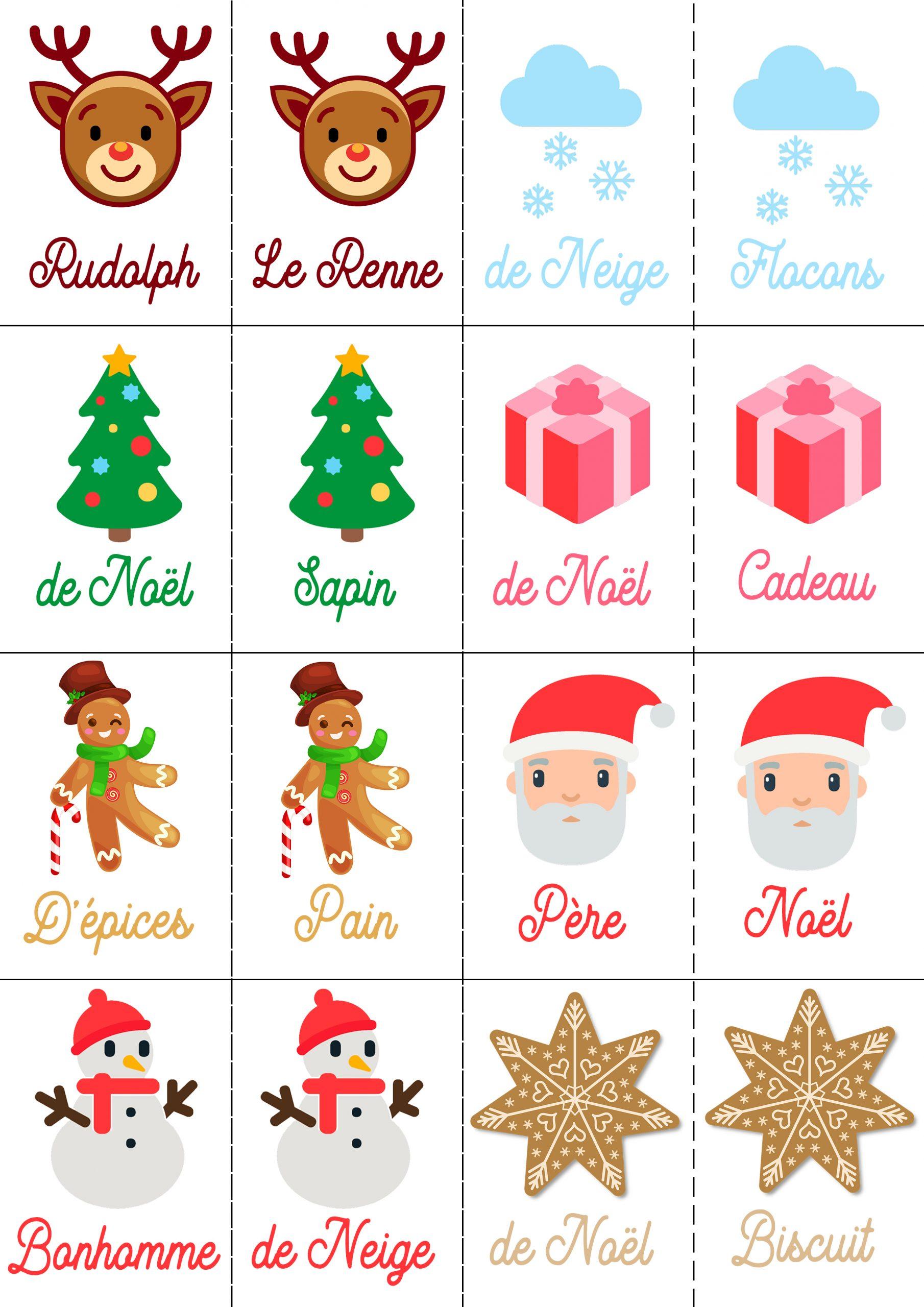 4 Jeux De Noël Pour Petits Et Grands À Imprimer Gratuitement dedans Jeux Memoire Enfant