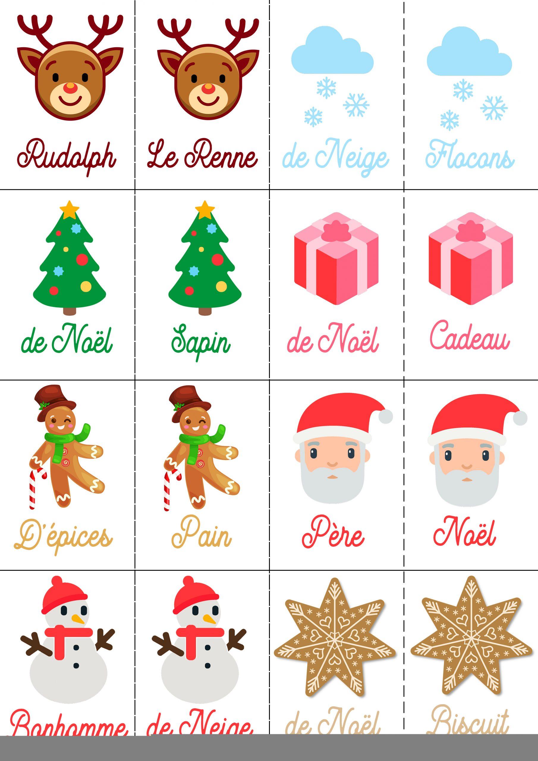 4 Jeux De Noël Pour Petits Et Grands À Imprimer Gratuitement intérieur Jeux Memoire Gratuit