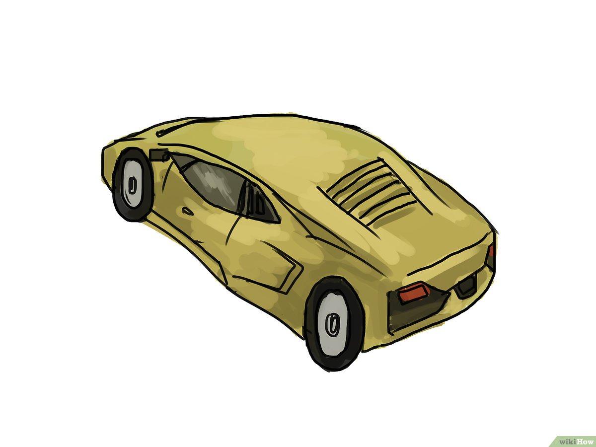 4 Manières De Dessiner Une Lamborghini - Wikihow intérieur Apprendre A Dessiner Une Voiture