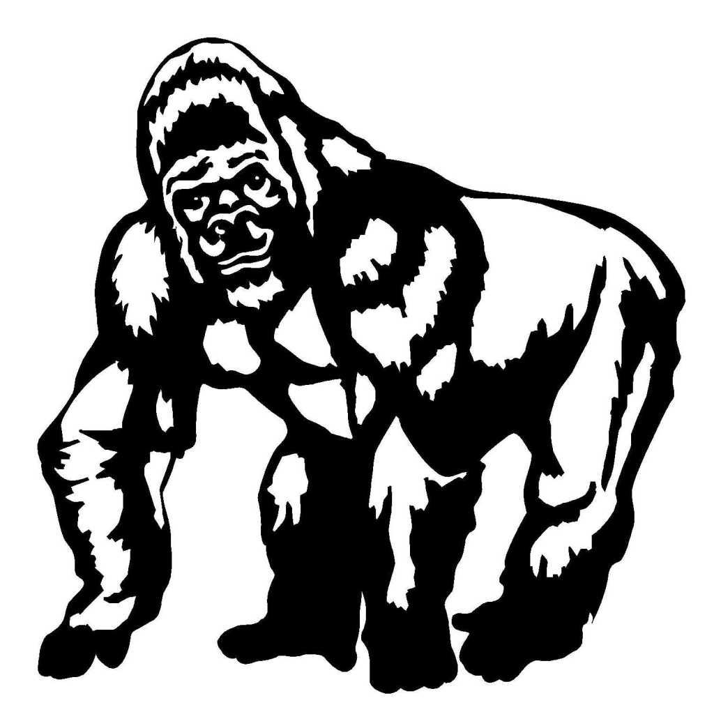 45 Dessins De Coloriage Gorille À Imprimer avec Coloriage Gorille