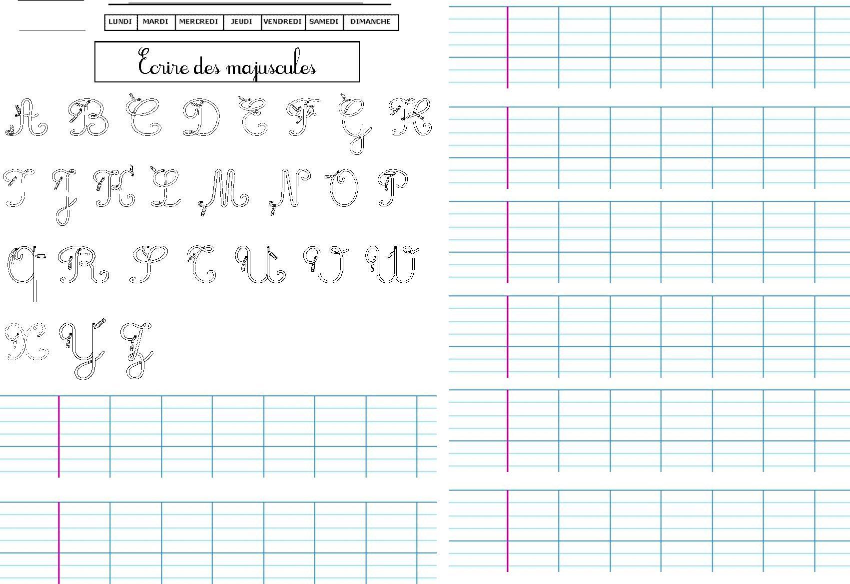 47 Fiches D'écriture, Dictées Muettes, Légendes À Écrire destiné Cahier D Écriture Cp À Imprimer