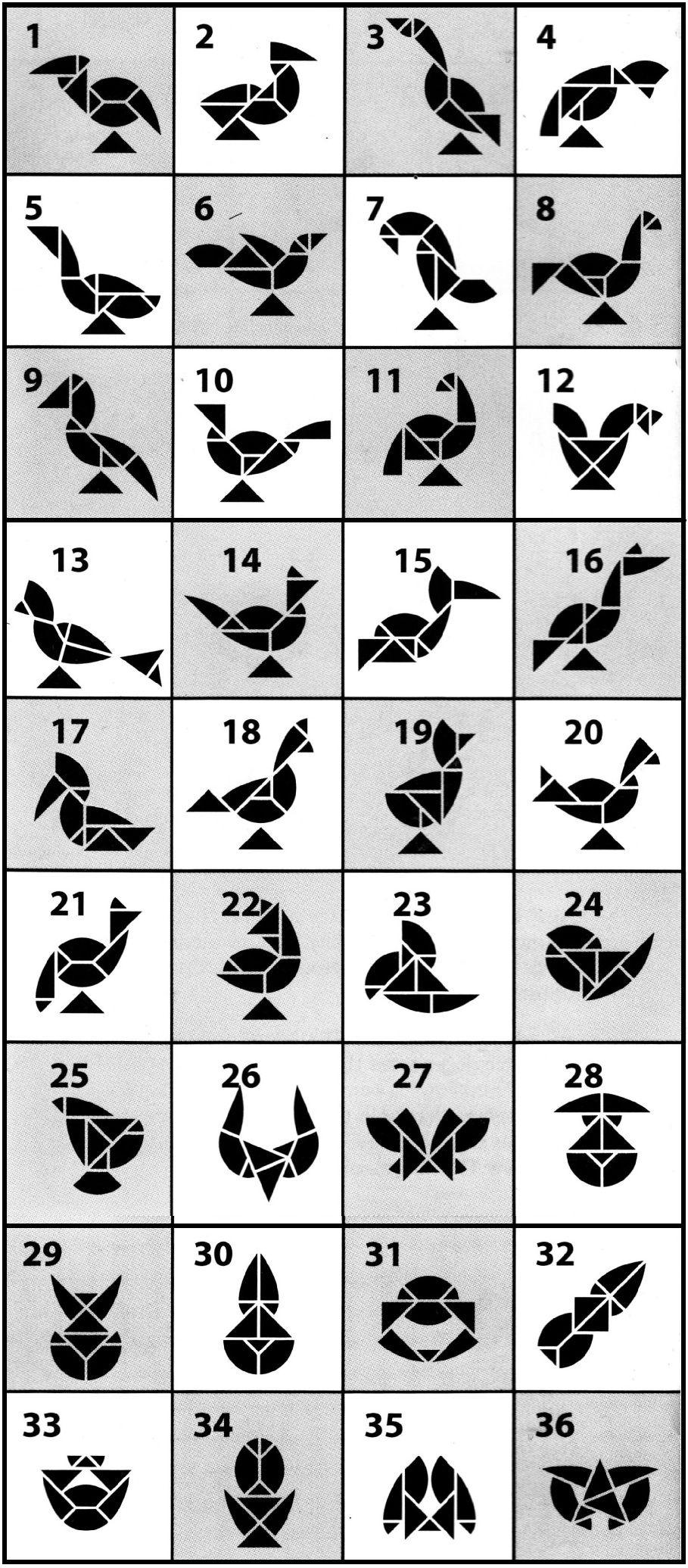 48 En Iyi Tangram Görüntüsü | Matematik, Okul Ve Sınıf dedans Tangram Modèles Et Solutions