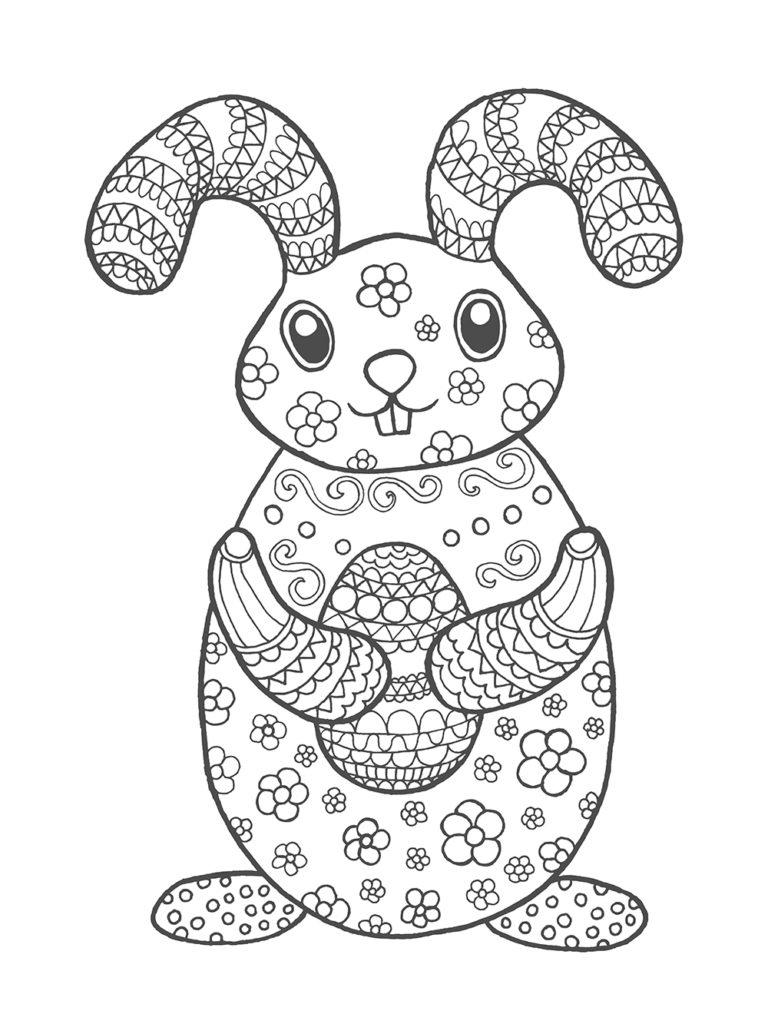 5 Beaux Coloriages De Pâques Pour Enfants & Adultes • • pour Dessin Pour Paques