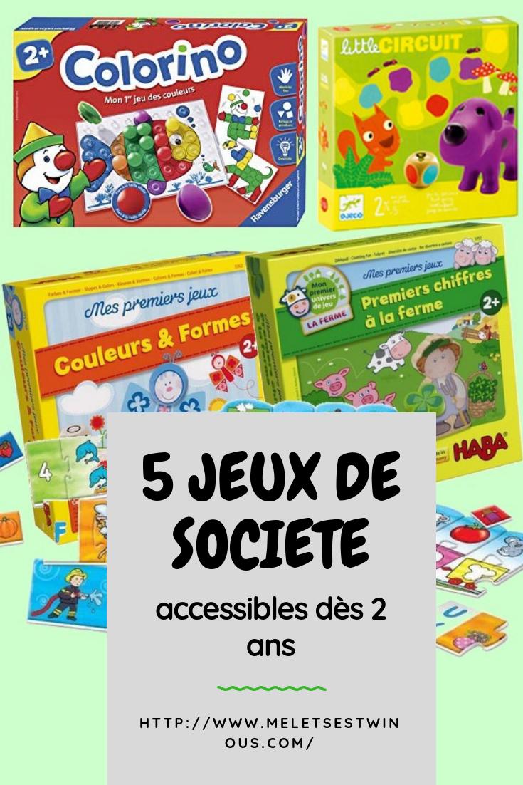 5 Jeux De Société Accessibles Dès 2 Ans - Mel Et Ses Twinous intérieur Jeux Pour Enfant De Deux Ans