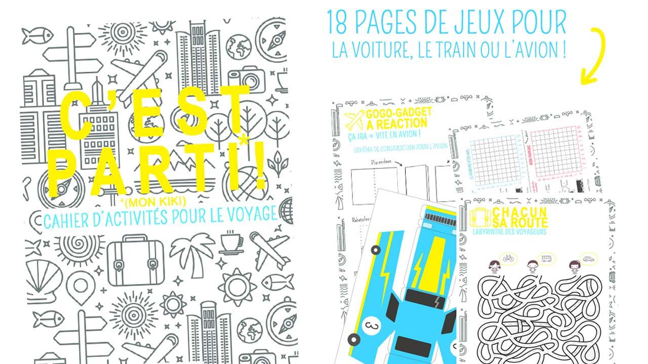 5 Jeux Éducatifs À Imprimer Pour Les Longs Trajets En dedans Journal De Vacances A Imprimer