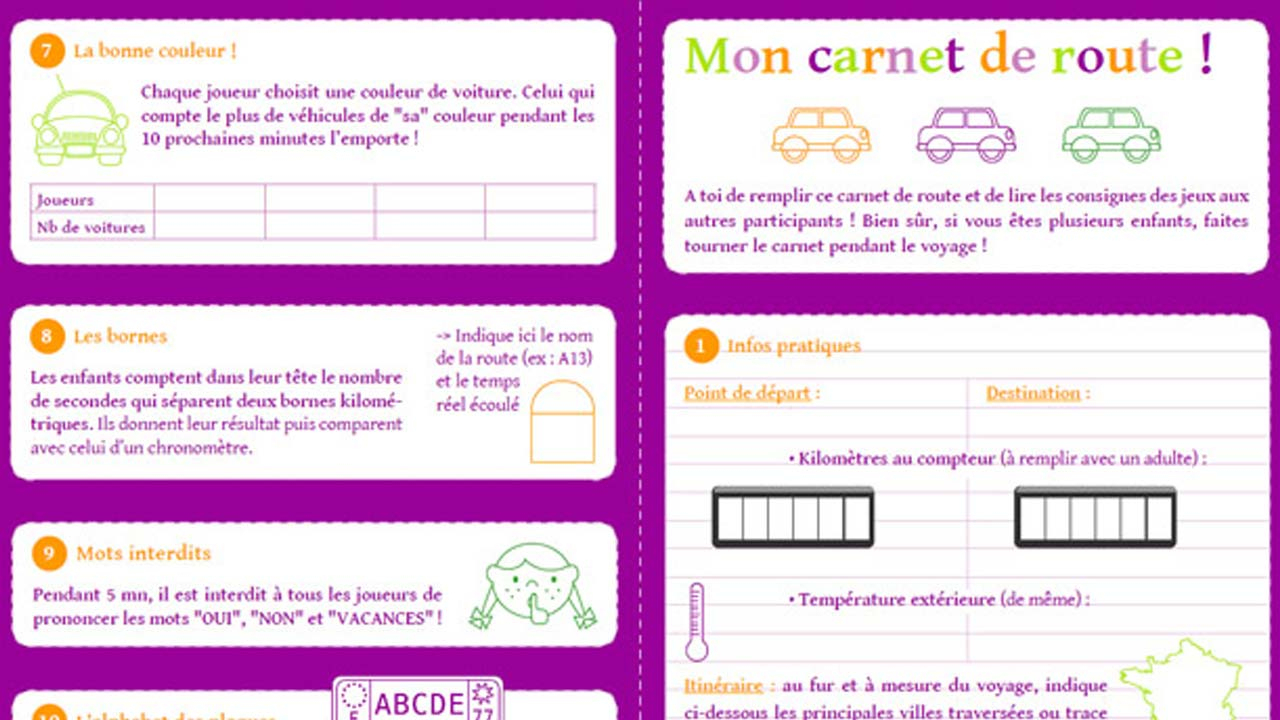 5 Jeux Éducatifs À Imprimer Pour Les Longs Trajets En intérieur Jeux De Voitures Pour Enfants