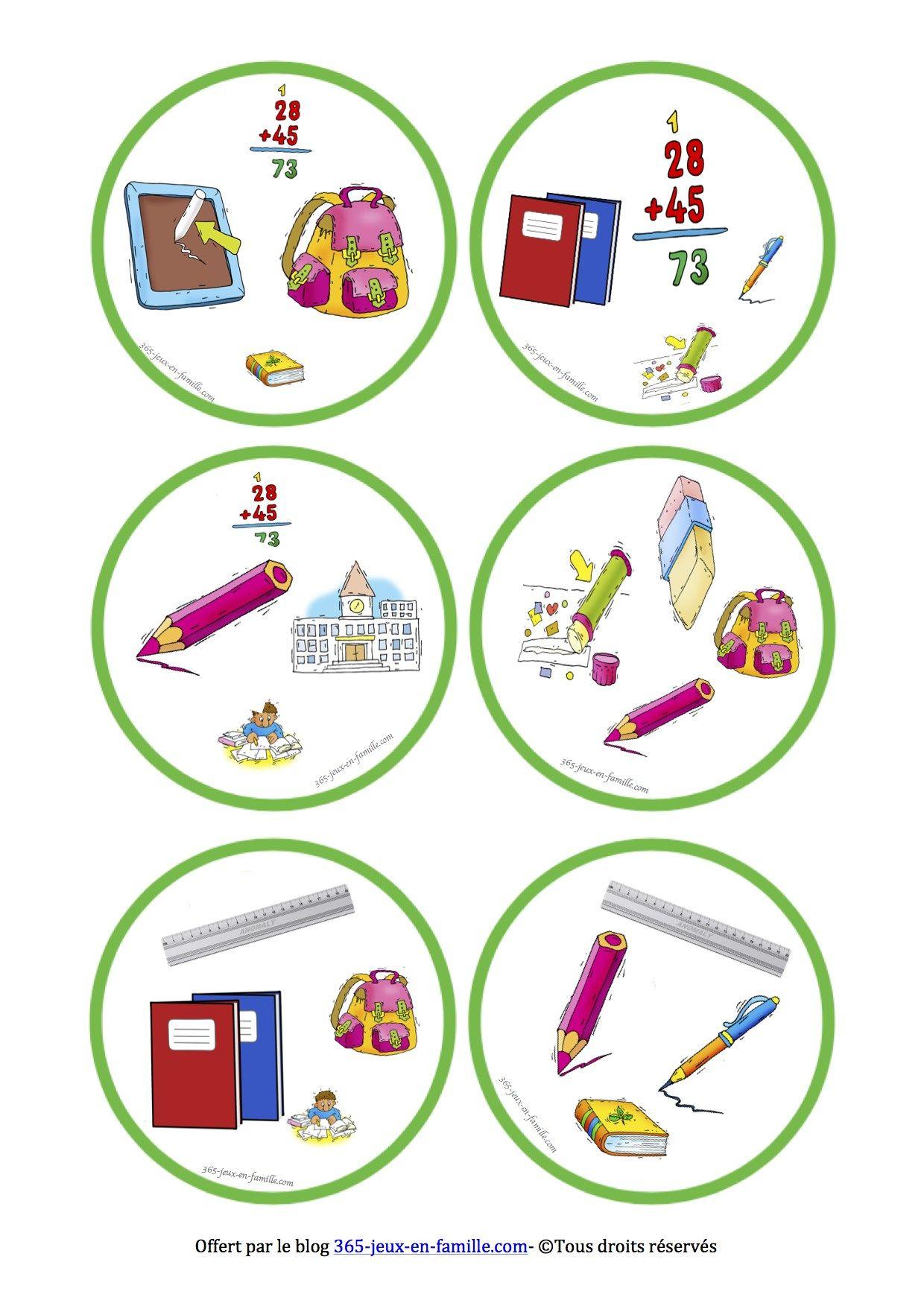 5 Jeux Gratuits À Imprimer Autour De L'école ~ Jeux À dedans Jeux Gratuit Maternelle