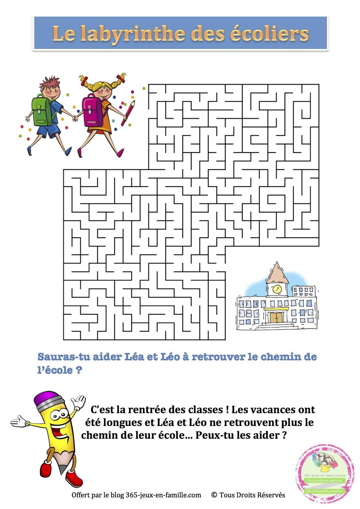 5 Jeux Gratuits À Imprimer Autour De L'école ~ Jeux À destiné Mots Croisés Gratuits À Imprimer Cycle 3