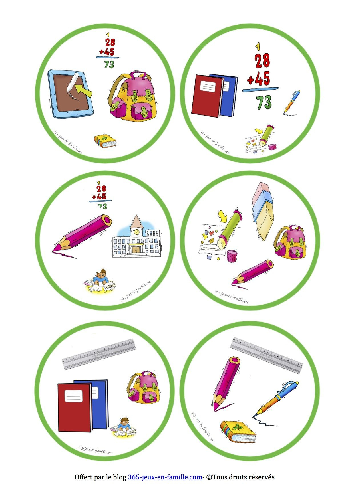 5 Jeux Gratuits À Imprimer Autour De L'école ~ Jeux À intérieur Jeux Maternelle Gratuit
