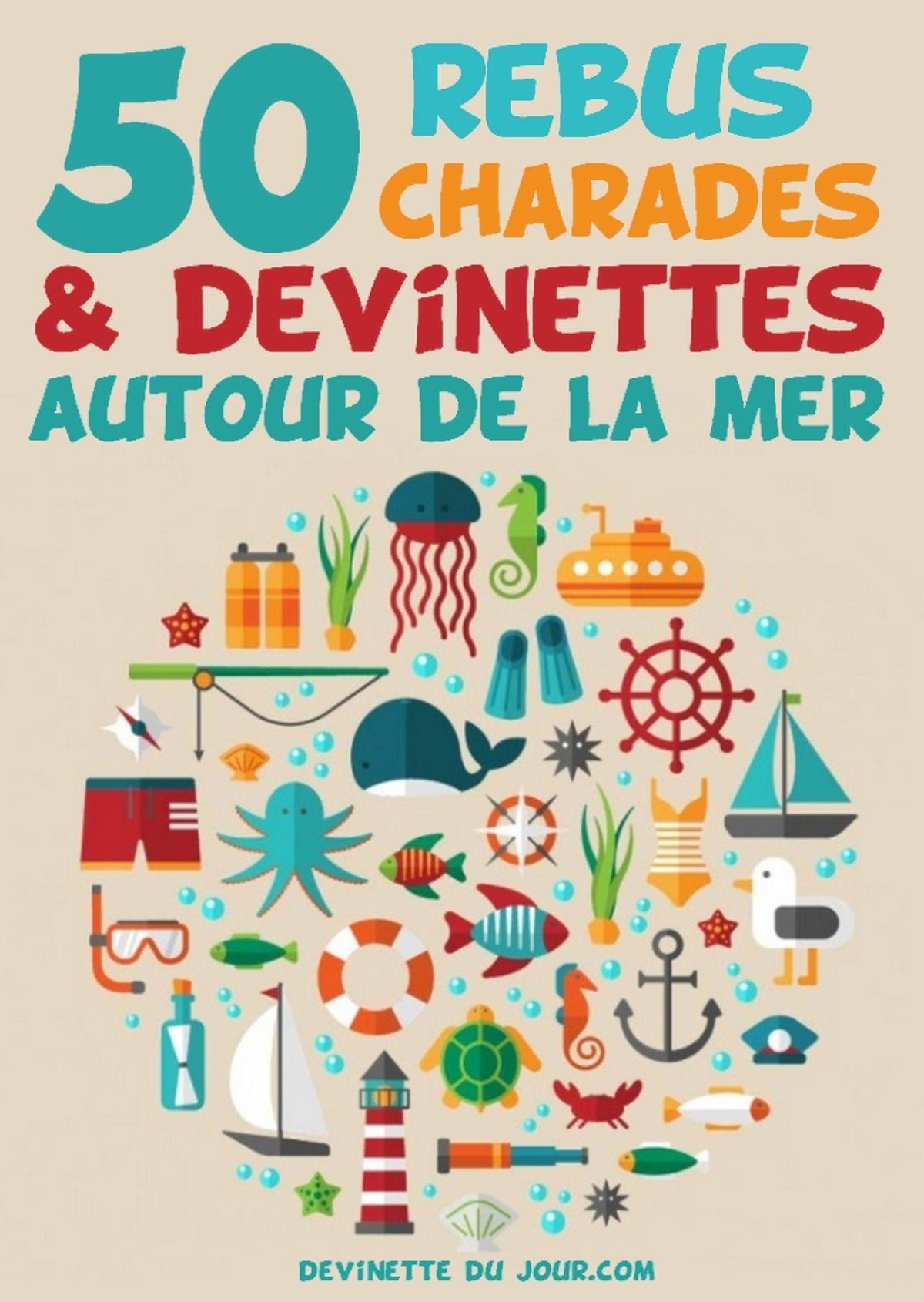 50 Devinettes, Rébus, Charades Autour De La Mer Ebook By Devinette Du Jour  - Rakuten Kobo à Rébus Facile