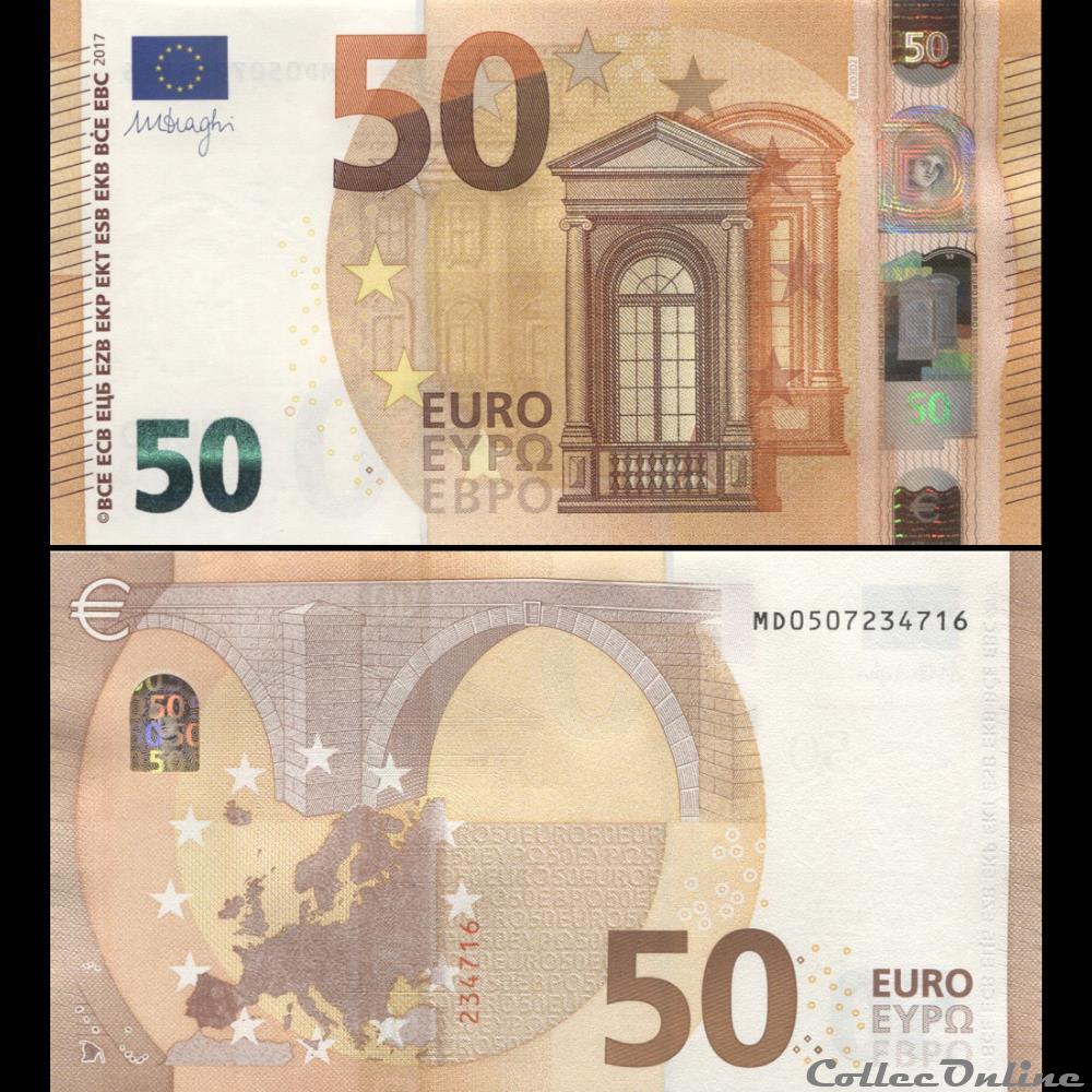 50 Euros - Signature Draghi - Pick 23 M - Portugal : Billets concernant Billet Euro A Imprimer