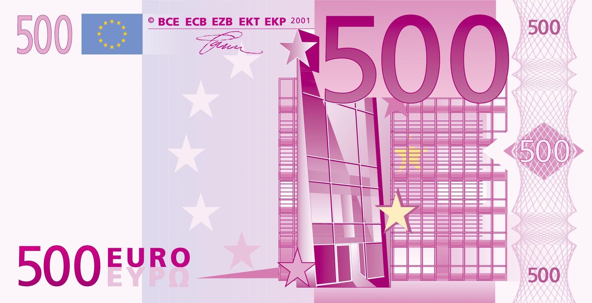 500 Euro | Fotoğraf | Puiv destiné Billet De 5 Euros À Imprimer