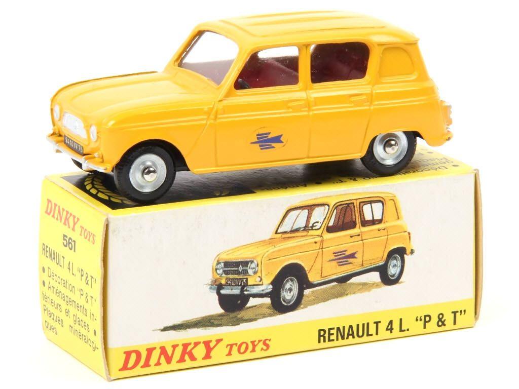 561 Renault 4L 'p.t.t' (2Ème Version) Jaune Adjugé 350 à Jeux De Voiture Jaune