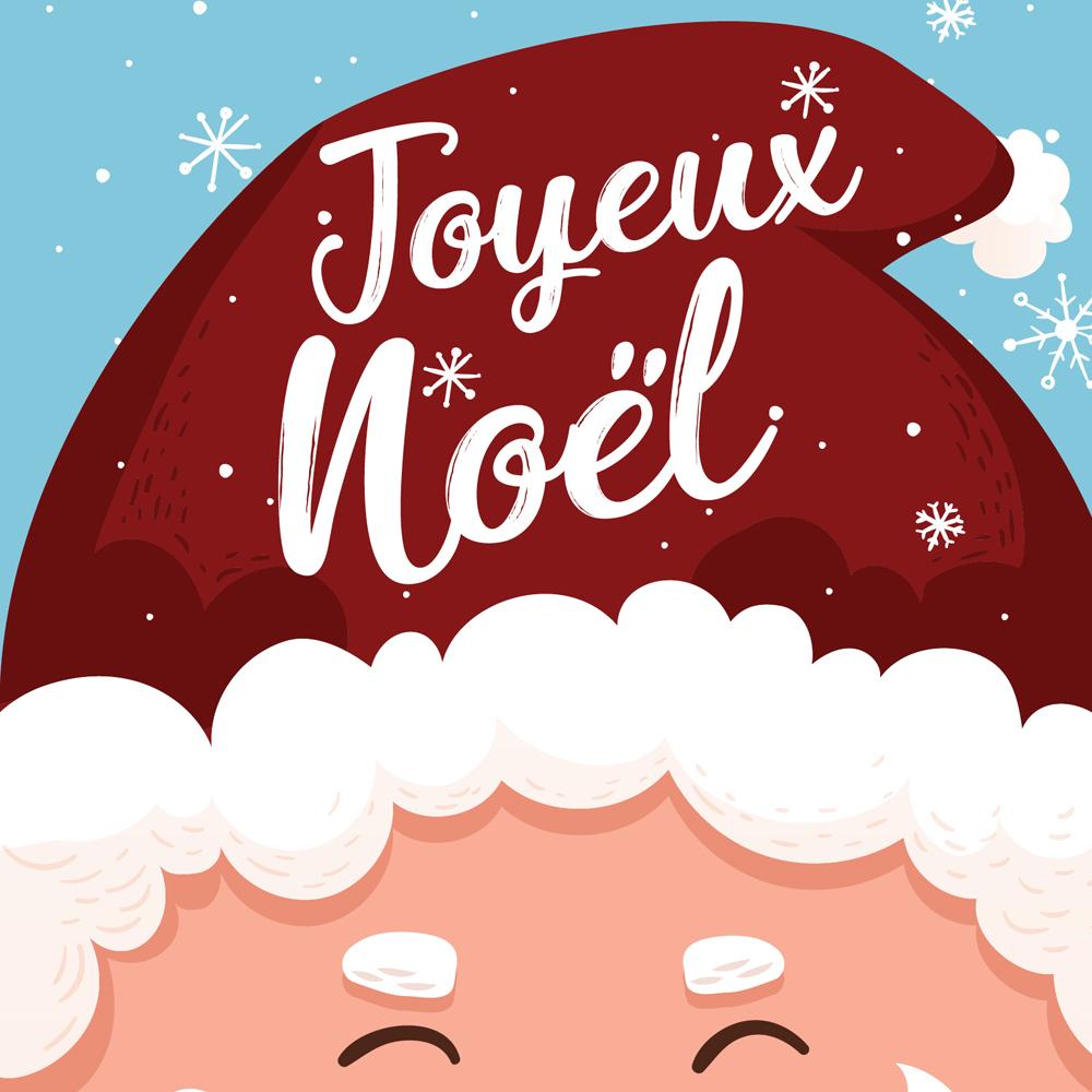 6 Cartes De Noël À Imprimer! - Je Cuisine avec Carte Joyeux Noel À Imprimer