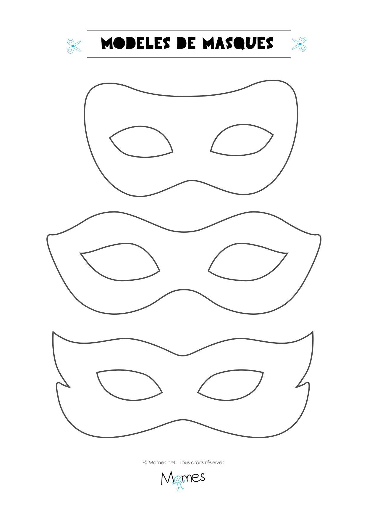 6 Modèles De Masques Pour Le Carnaval | Modèle De Masque serapportantà Masque Enfant A Colorier