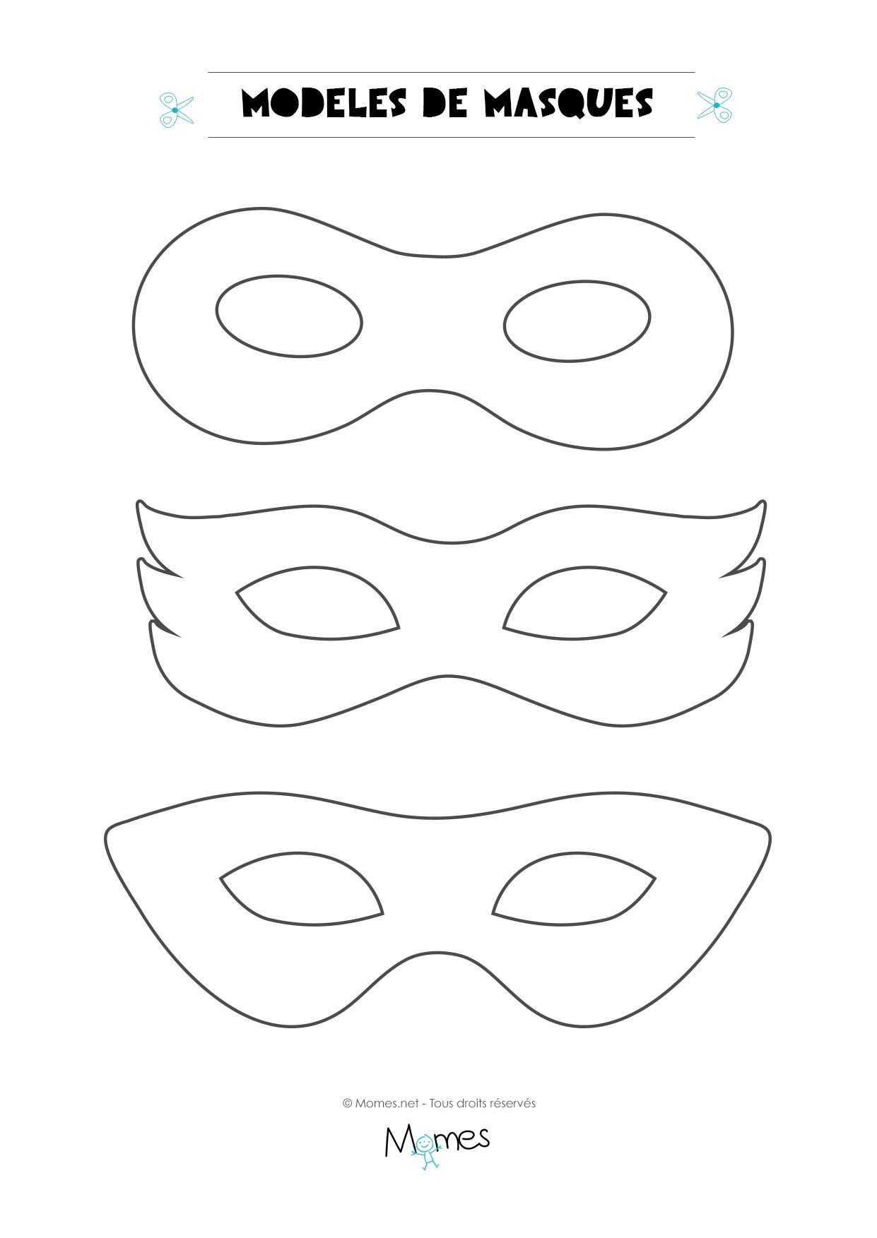 6 Modèles De Masques Pour Le Carnaval - Momes serapportantà Masque Loup A Colorier