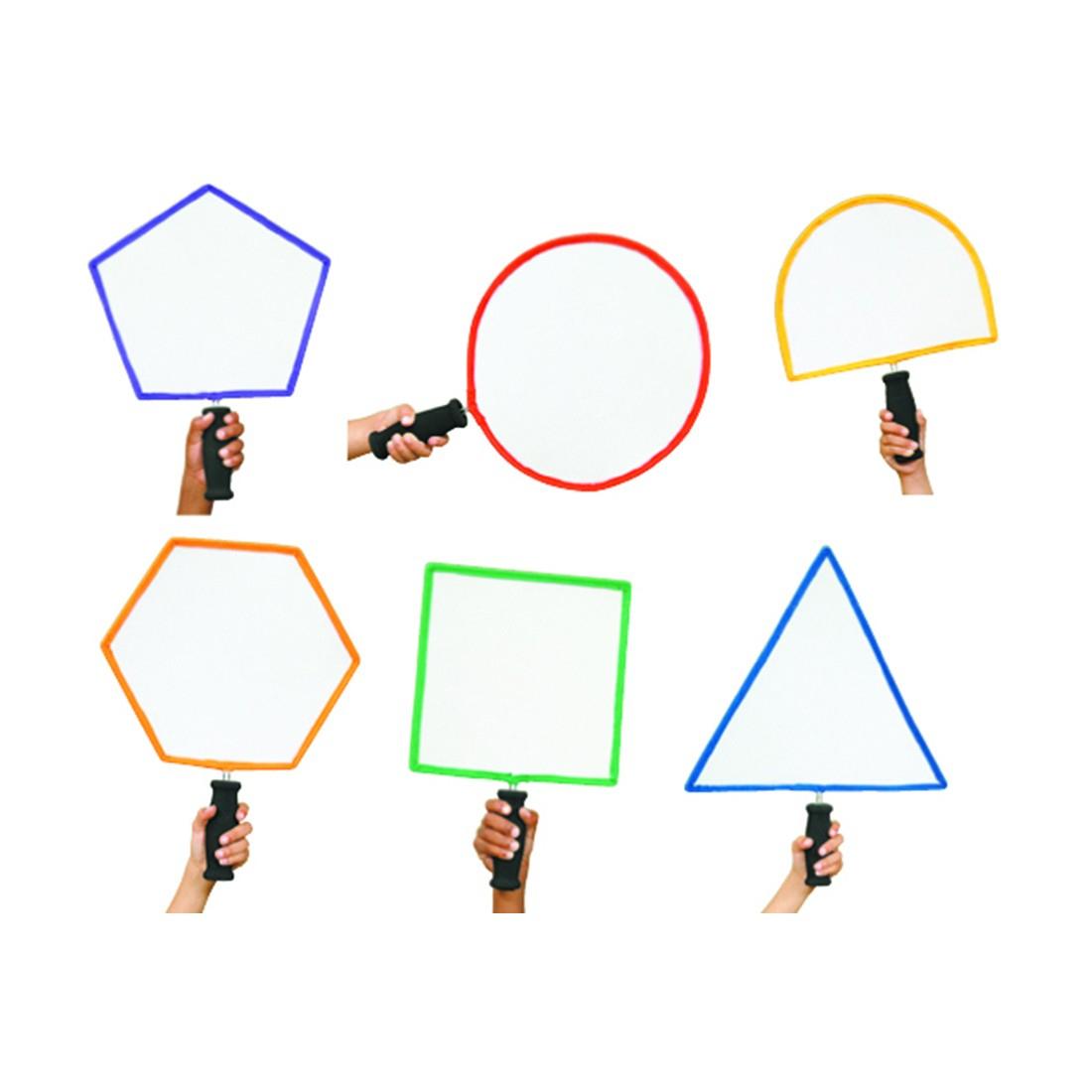 6 Raquettes De Formes Géométriques avec Les Formes Geometrique