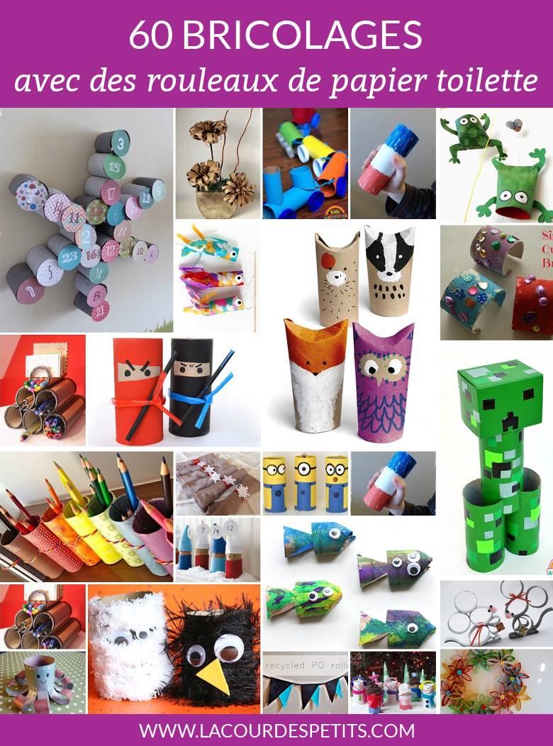 60 Bricolages Avec Des Rouleaux De Papier Toilette |La Cour dedans Travaux Manuel Pour Tout Petit