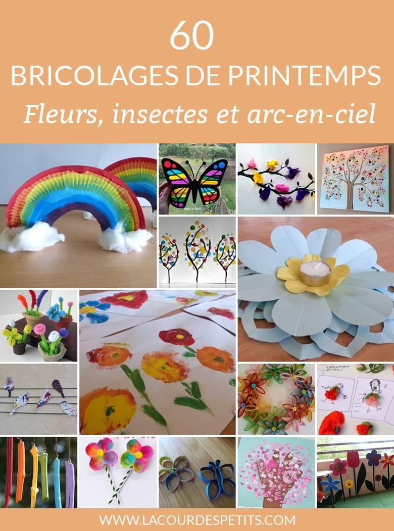 60 Bricolages De Printemps En Fleurs Et En Couleurs ! |La intérieur Travaux Manuel Pour Tout Petit