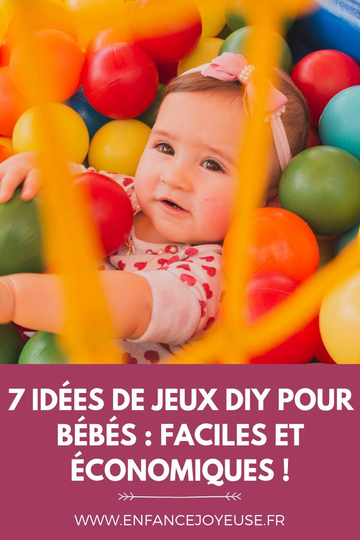 7 Jeux Diy Pour Bébés ! – Enfance Joyeuse à Jeux Gratuit Pour Bebe
