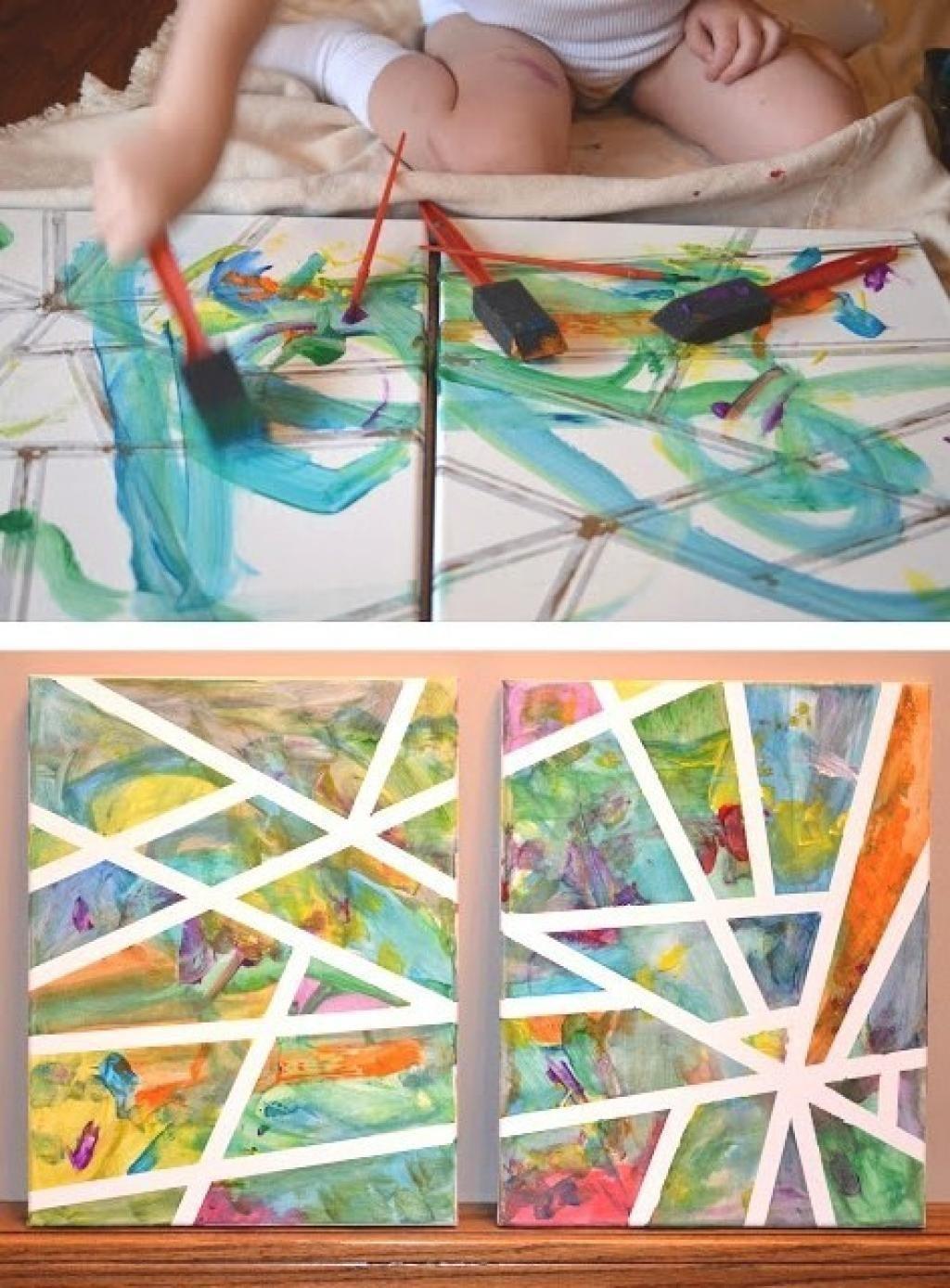 7 Magnifiques Activités De Peinture Et Collage À Faire Avec intérieur Activité Fille 6 Ans