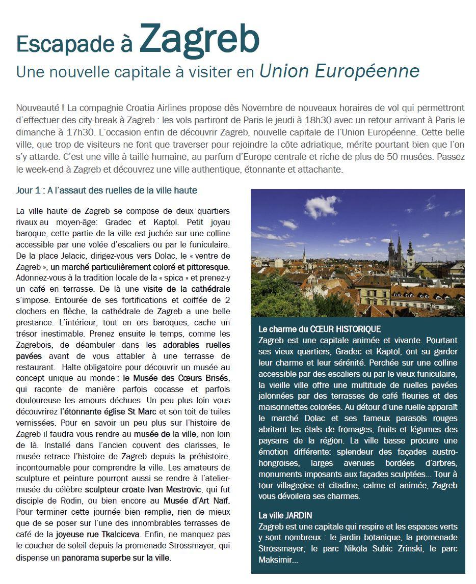 72H À Zagreb : Une Nouvelle Capitale À Visiter En Union intérieur Capitale Union Européenne